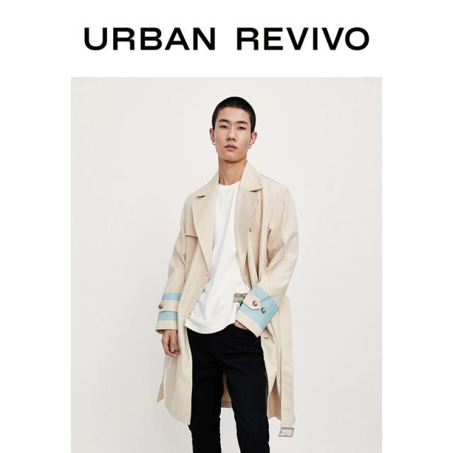 【URBAN REVIVO】アームライントレンチコート