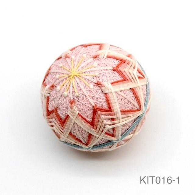 手まり制作キット「さくらのまり」(テキストあり)_KIT016-1}