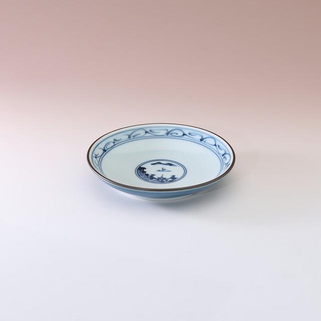 地紋山水 3寸皿