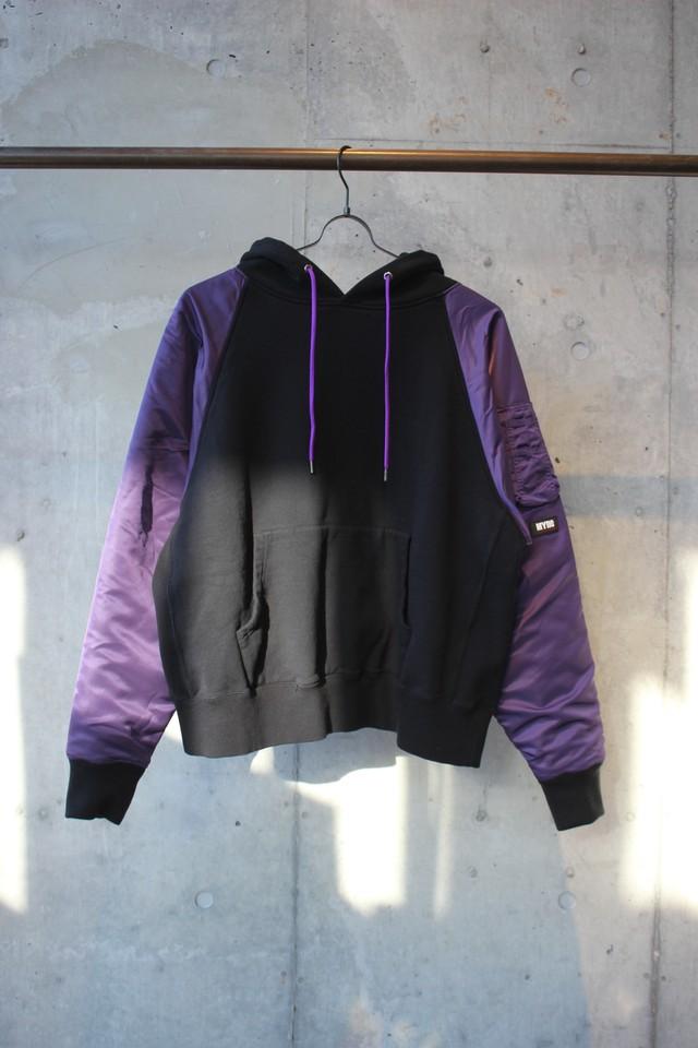 MA-1 hoodie / BLACK - メイン画像