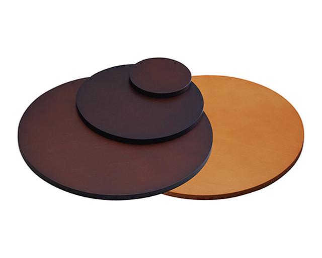 木製ステージLサイズ円形φ300×H10㎜ 木目塗装 AR-1648NW-L