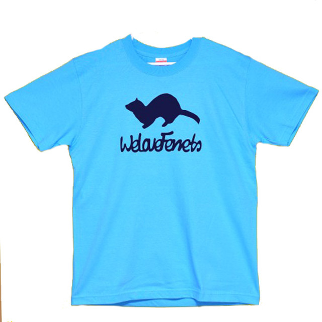 we Love Ferrets Tシャツ 5001-01 (アダルト)カラー:アクアブルー サイズ:M