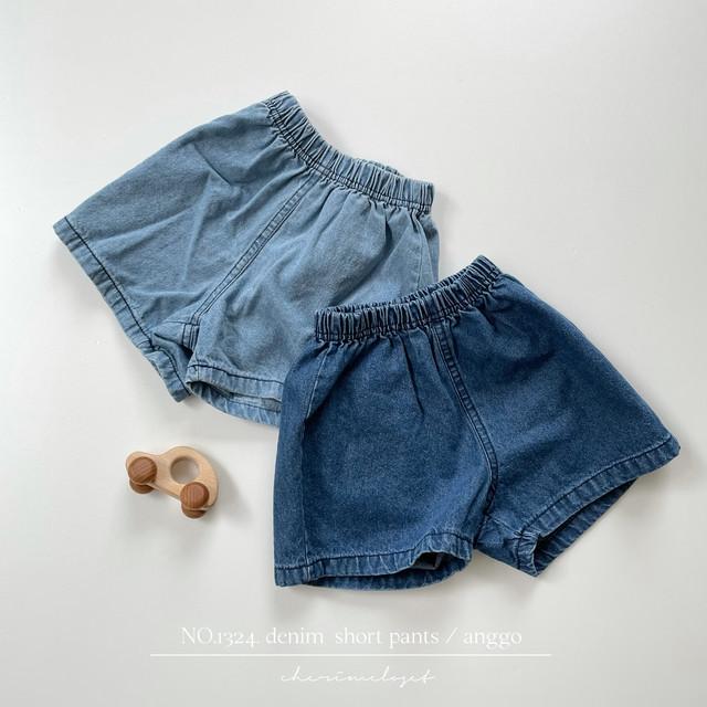NO.1324. denim  short pants / anggo
