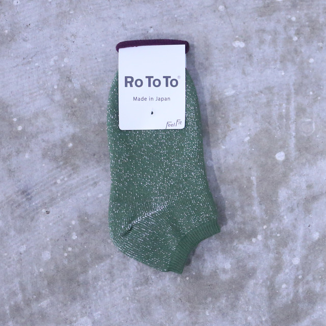"RoToTo(ロトト) Double Face Socks ""Silk&Cotton"" Burgundy/M.Navy R1034"