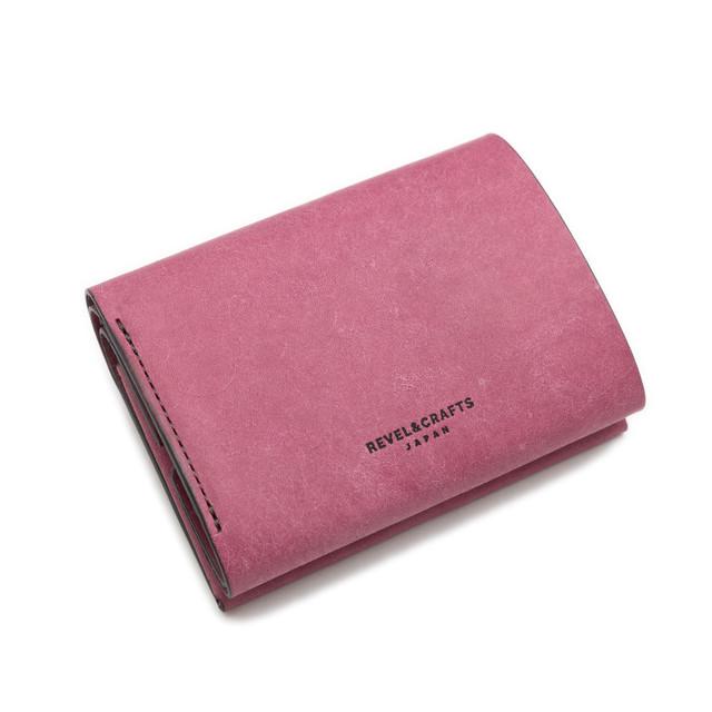 [限定]2.5折コンパクト財布 - MINI 2 イタリアンスクラッチ 紫陽花