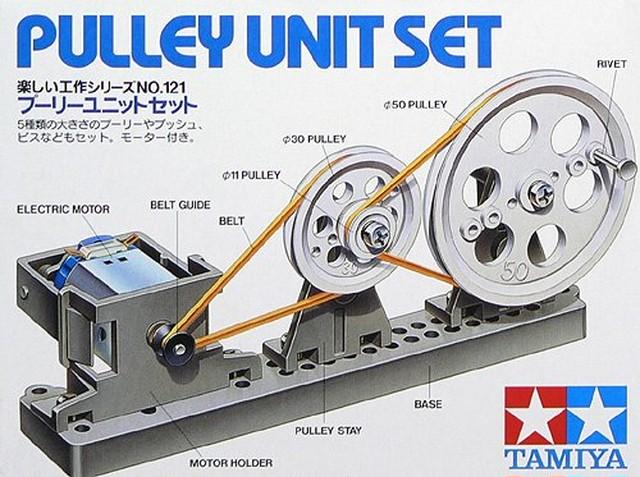 プーリーユニットセット 】 タミヤ 楽しい工作シリーズ tk121// モーターのパワーを動きに変えるユニットの組み立てキット |  hobbyheaven