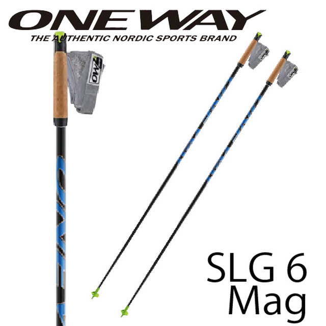 145cm~165cm ONE WAY クロスカントリーポール DIAMOND PREMIO SLG6 MAG スキーマラソン向け ストラップ着脱可能タイプ ow20314