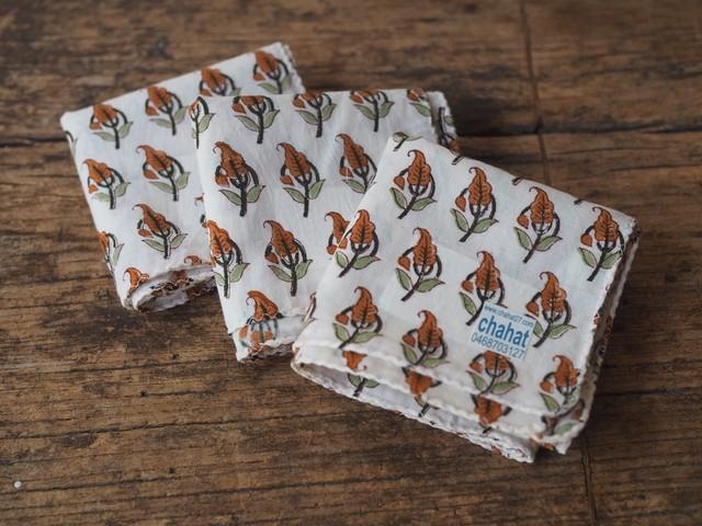 156ri049 Block Print Handkerchief a3