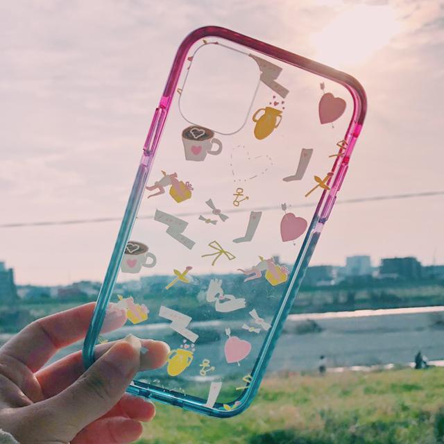 【iPhone11シリーズ】恋するグラデーションクッションケース