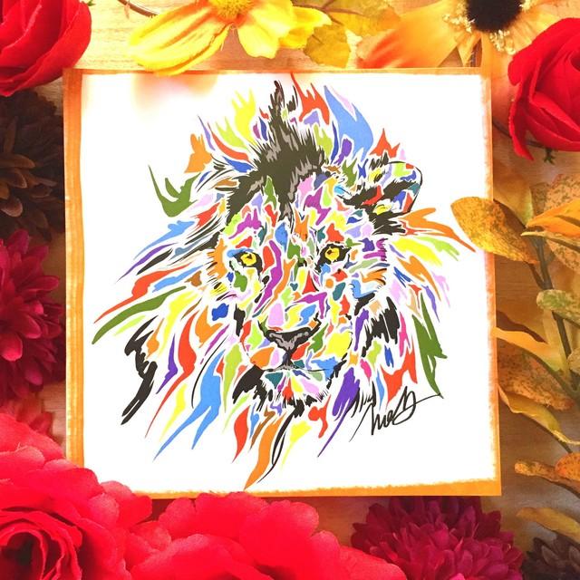 絵画 インテリア アートパネル 雑貨 壁掛け 置物 おしゃれ ライオン 現代アート ロココロ 画家 : nob 作品 : lion