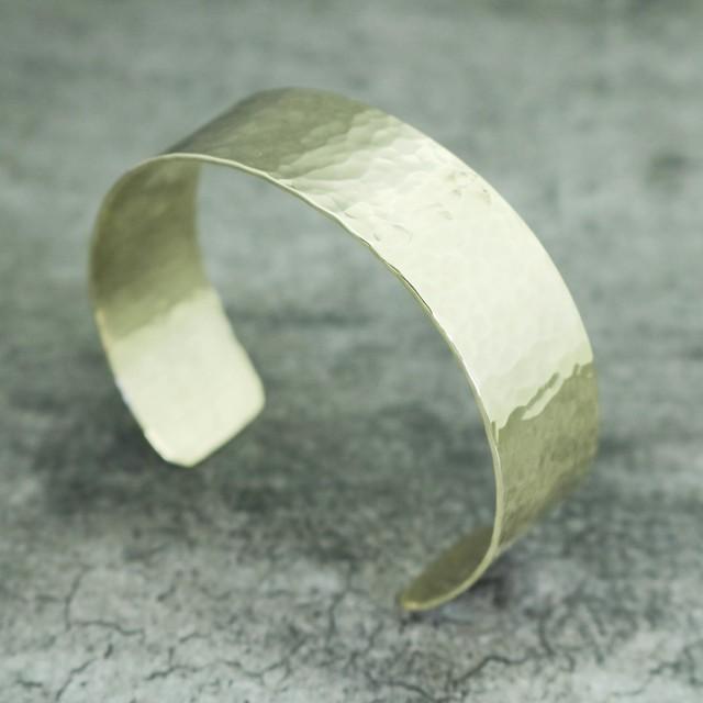 (MONANGEオリジナル) 真鍮バングル (幅2.0㎝)  【BN0025】