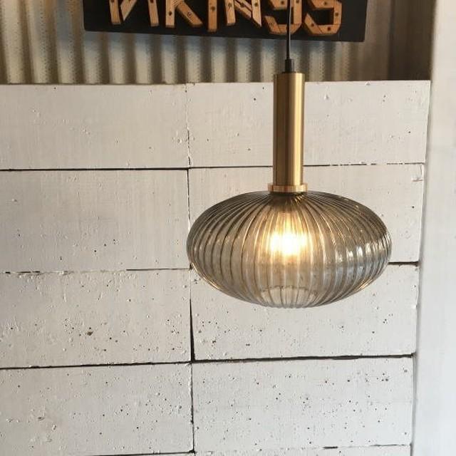 TOPANGA Lighting スモーキーガラス ペンダントランプ オーバル
