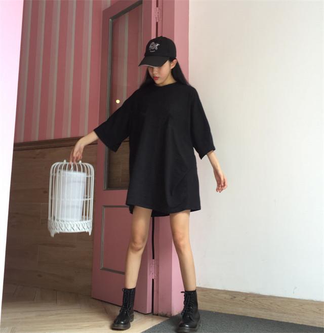 リブニット ミモレ丈 スリット スカート【0765】