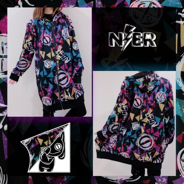 LONG LENGTH ZIP OUTER【CRYPT PAINT】