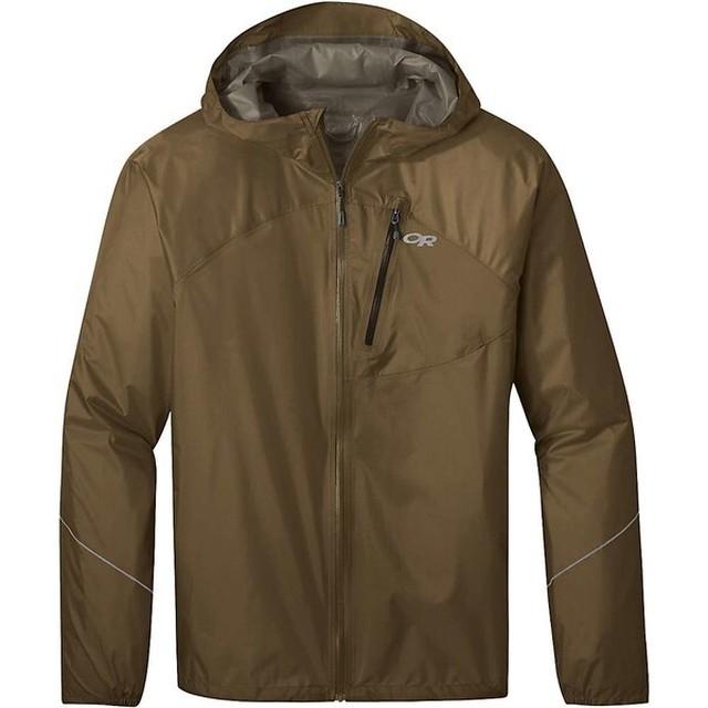 新品 Outdoor Research Helium Rain Jacket COYOTE -Medium 0970