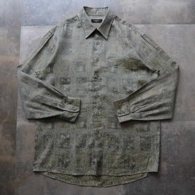pattern all over classical design shirt