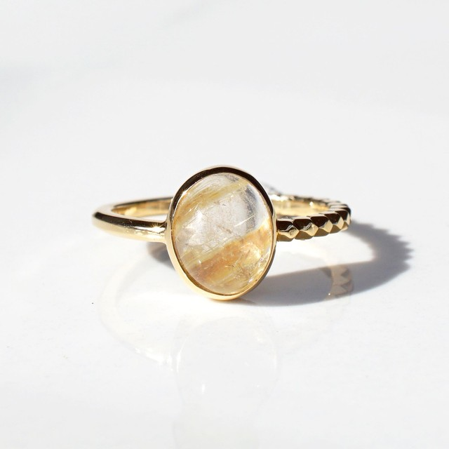 Rutilated Quartz  Ring(R286-RQ)