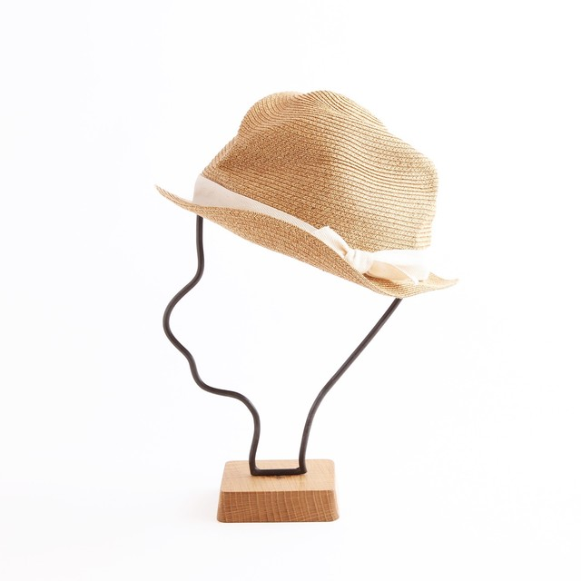 mature ha./BOXED HAT 102 mixbrown×white