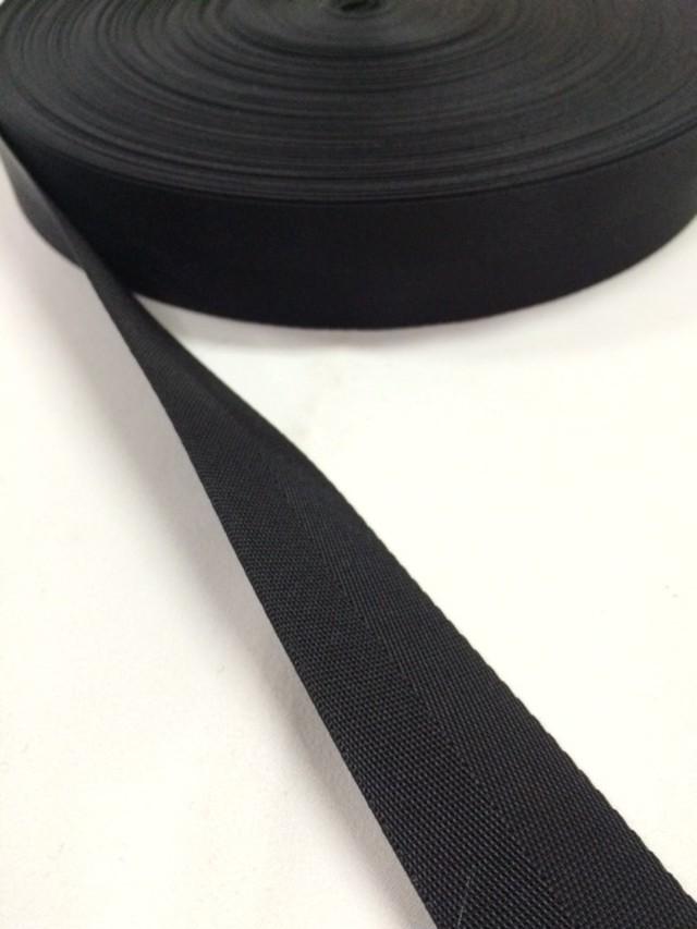 ナイロン 杉綾織(綾テープ) 30mm幅 黒 5mカット