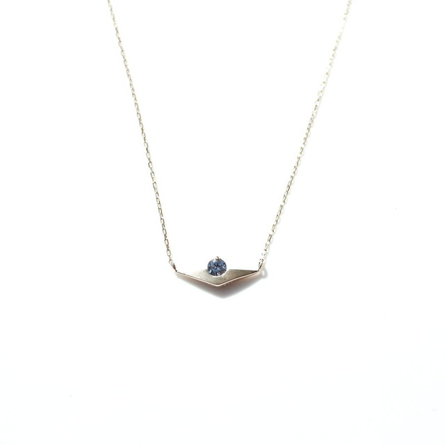 Sunset Necklace - K10YG,Benitoite