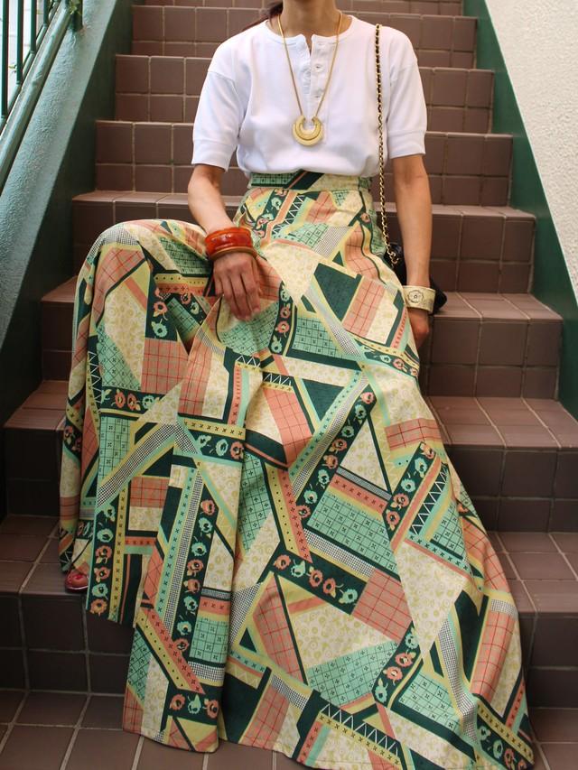 70s 70s maxi skirt