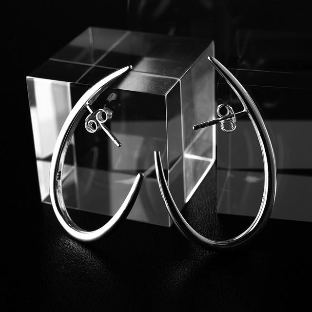 silver half hoop pierce