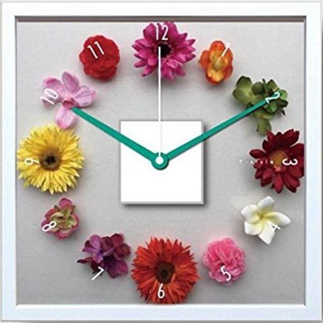 掛け時計 アートフラワー フラワークロック CDC-51964 美工社 - メイン画像