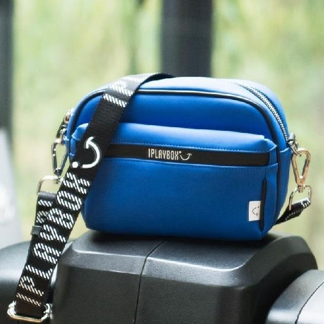 iplaybox ショルダーバッグ ポーチ PU カジュアル 防水 ファスナー ウエストバッグ兼用