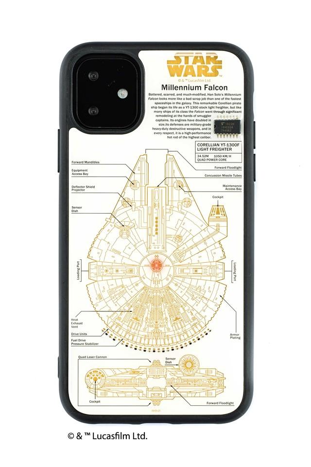 FLASH M-FALCON 基板アート iPhone 11 ケース  白【東京回路線図A5クリアファイルをプレゼント】