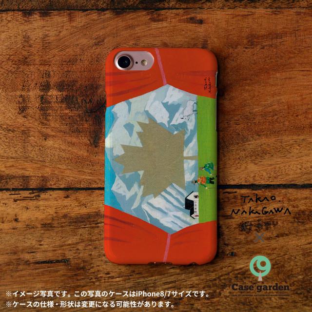 iphoneケース 個性的 おしゃれ スマホケースおもしろ かわいい iphone ケース ネタ iphoneケース 可愛い かぶらない 国旗 カナダ/中川貴雄×ケースガーデン