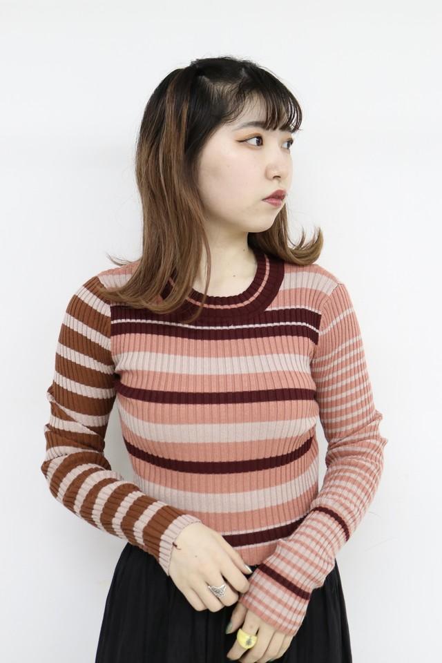 multicolor tight rib  knit / 3SSTP20-07