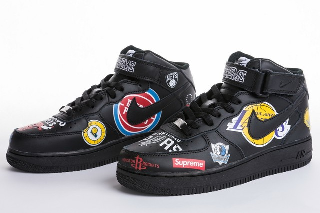 【中古品】シュプリーム SUPREME ×NIKE 18SS NBA Teams AIR FORCE 1 MID AQ8017 001 スニーカー 黒 | bdfzs powered by BASE