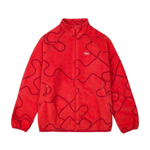 DIME PUZZLE POLAR FLEECE RED