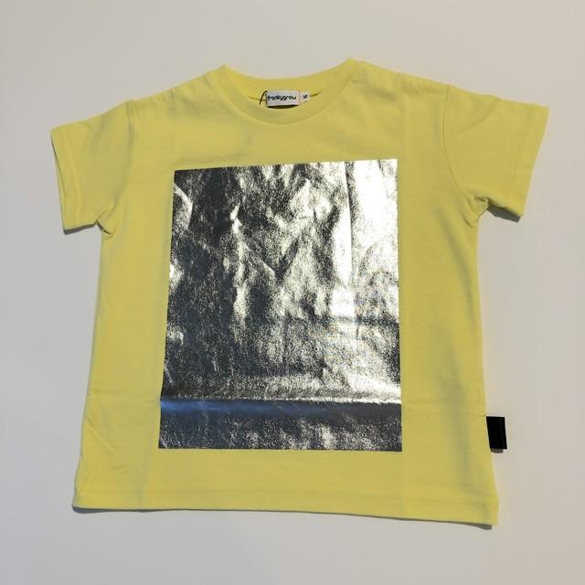 【21SS】フランキーグロウ ( frankygrow ) SQUARE PRINT TEE[F]Yellow Tシャツ レディース トップス