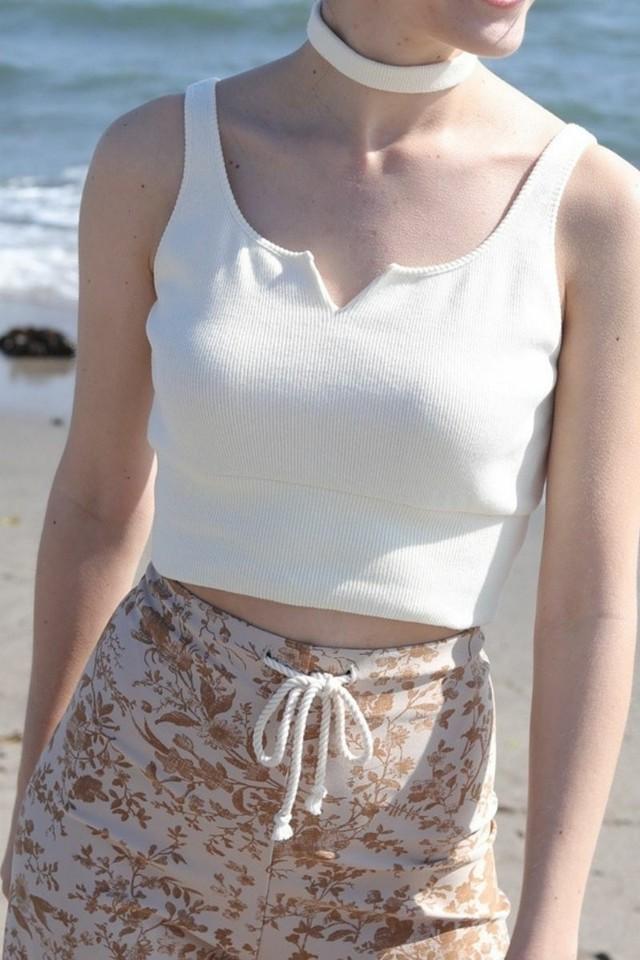 Moon Knit Tank top Ivory