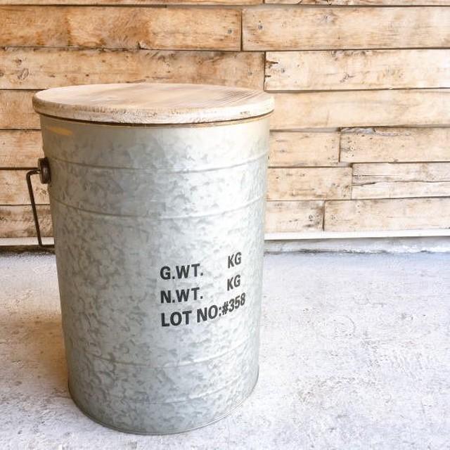 ドラム缶スツール シルバー