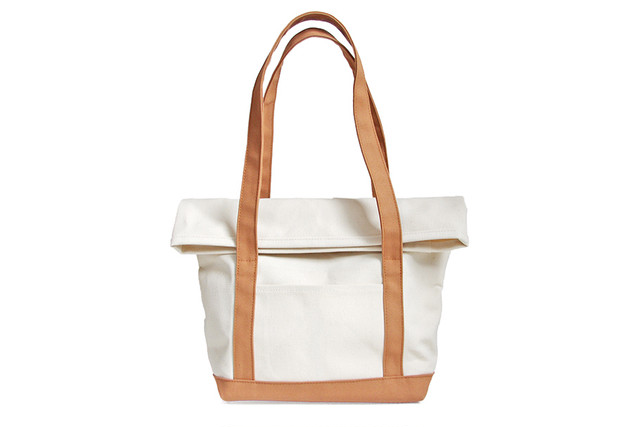 BEND TOTE BAG(キナリ×モカベージュ)
