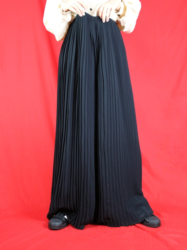 pleats wide  pants【0580】