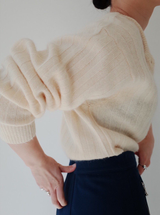 used Angola knit