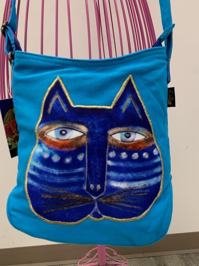 ハワイ直送 Laurel Burch Crossbody(ねこFace)
