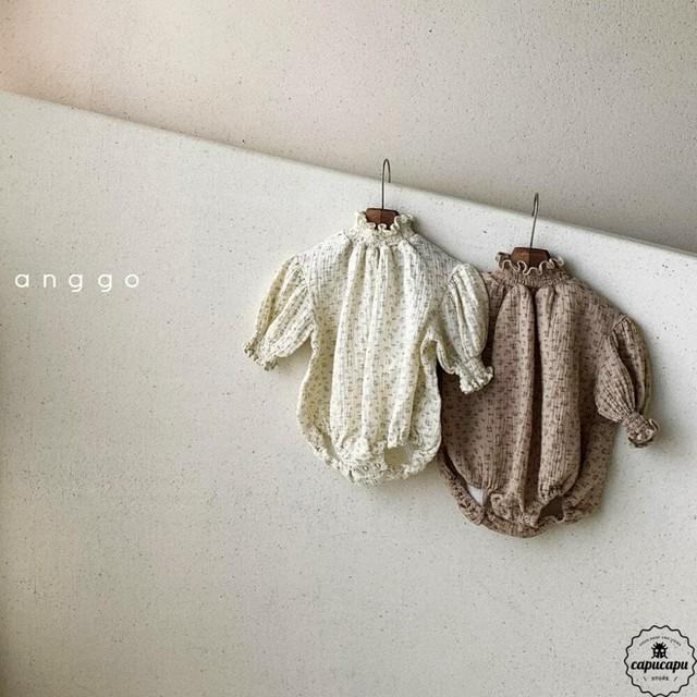 «予約»«bebe» shirring baby suits 2colors シャーリングベビースーツ