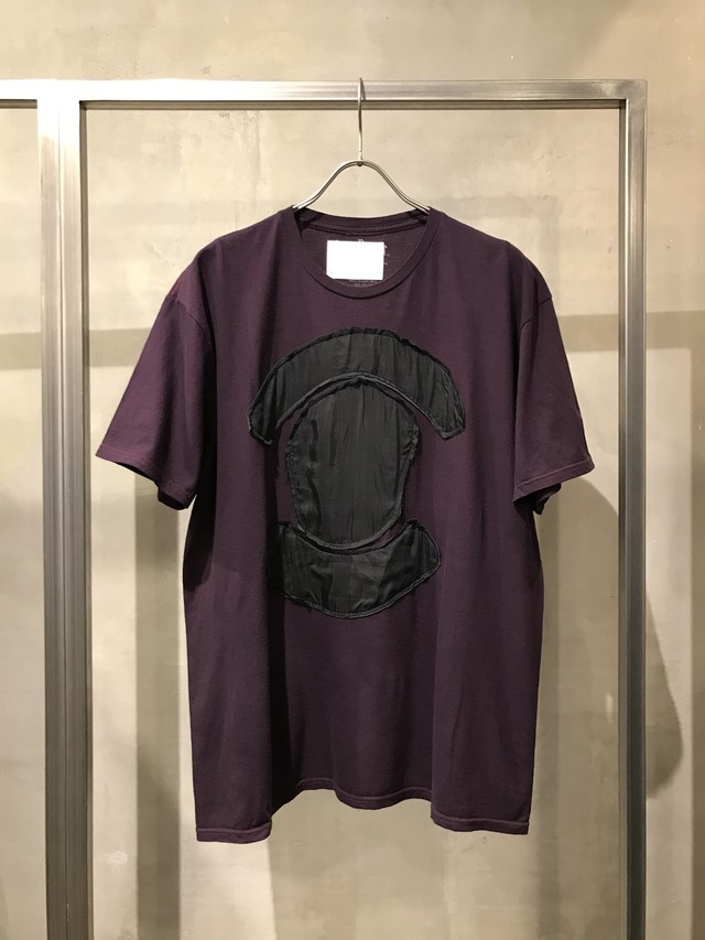 TrAnsference hidden graphic patch T-shirt - dark berry