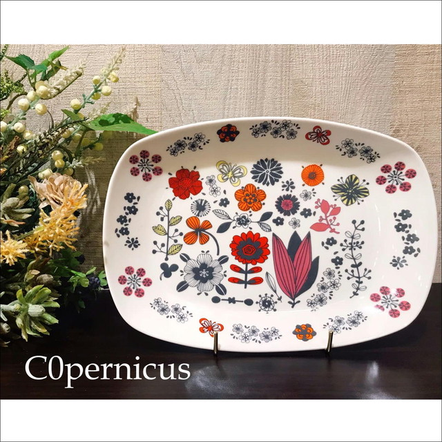 floral PlateRED 浜松雑貨屋 C0pernicus