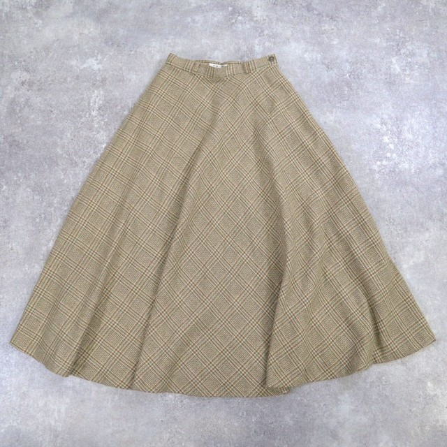 plaid retro design skirt