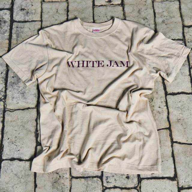 """T-Shirt """"WHITE JAM"""" -Beige-"""