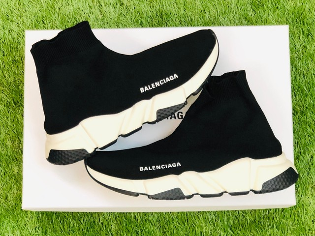 BALENCIAGA SPEED TRAINER 25㎝ BLACK/WHITE 525712 160JH8029