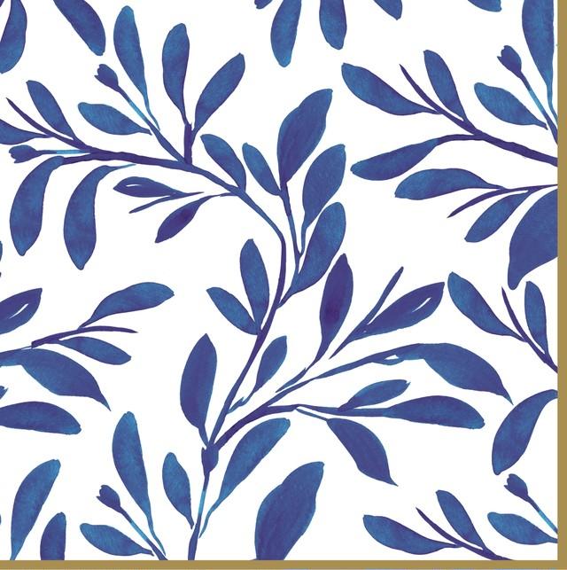 【Easy Life】バラ売り2枚 ランチサイズ ペーパーナプキン Elegance ブルー