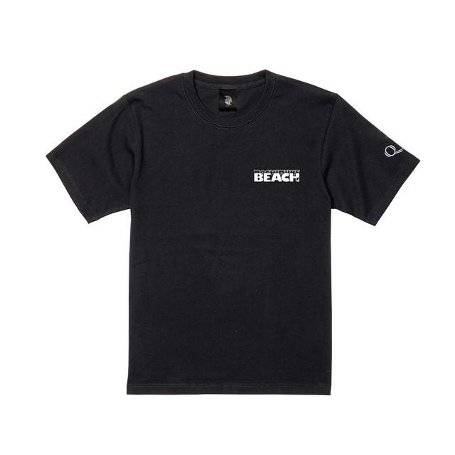 beach logo 半袖 黒
