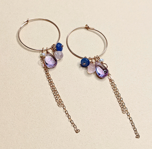 Color stone earrings | MIHO meets RUKUS