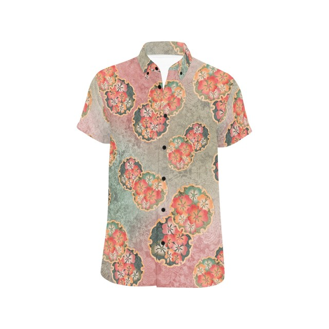 桜家紋蝶 ユニセックス半袖シャツ